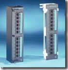 Cat5e and Cat6 12 port mini-patch panel